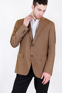 Caruso per Carouzos Light Brown Cool-Wool Blazer / Size: 50 IT - Fit: M (Loose)
